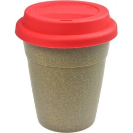 Bamboe To Go Koffiebeker rood