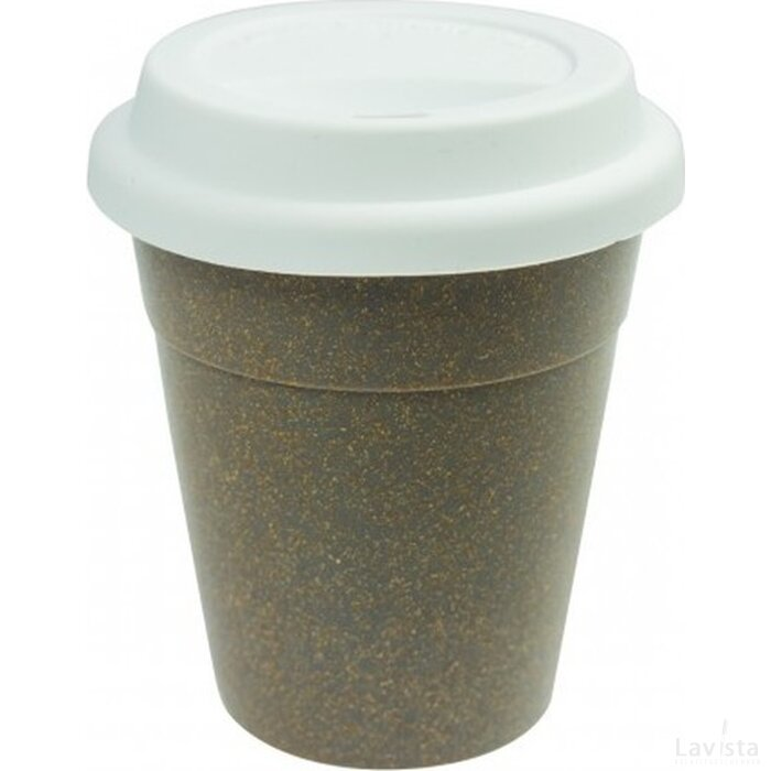 Bamboe To Go Koffiebeker wit