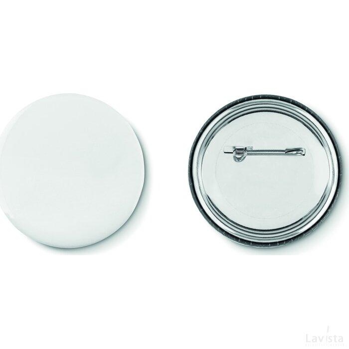 Metalen button Pin mat zilver
