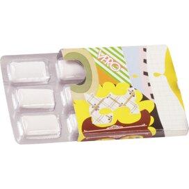 Kauwgum met Xylitol blister 6 stuks in kartonnen huls incl. full colour custom made