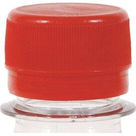 Ronde waterfles 500 ml met platte dop rood