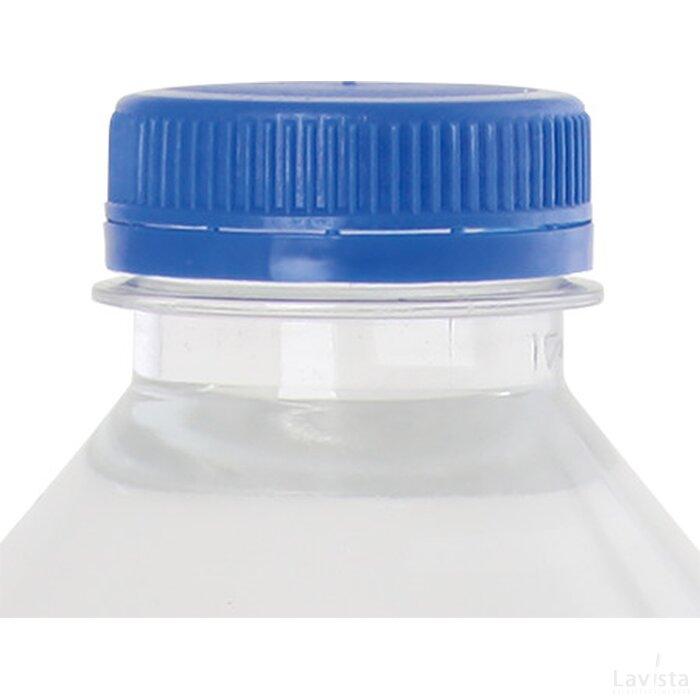 Ronde waterfles 330 ml met platte dop donkerblauw