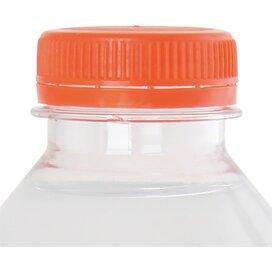 Ronde waterfles 330 ml met platte dop oranje