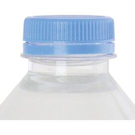 Ronde waterfles 330 ml met platte dop lichtblauw
