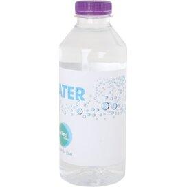 Ronde waterfles 330 ml met platte dop donkerpaars