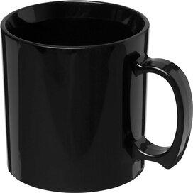 Standard 300 ml kunststof mok Zwart