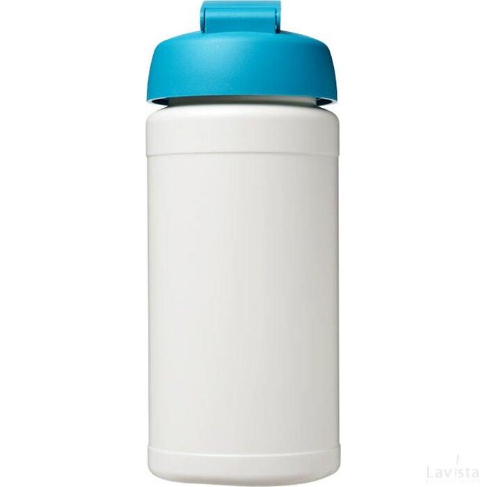 Baseline® Plus 500 ml sportfles met flipcapdeksel Wit,aqua