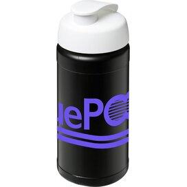 Baseline® Plus 500 ml sportfles met flipcapdeksel Zwart,Wit