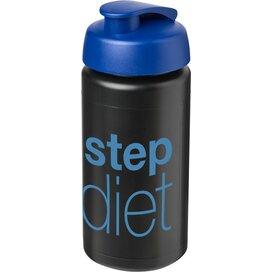 Baseline® Plus grip 500 ml sportfles met flipcapdeksel Zwart,blauw