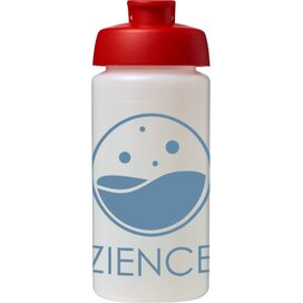 Baseline® Plus grip 500 ml sportfles met flipcapdeksel Transparant,Rood