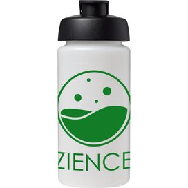 Baseline® Plus grip 500 ml sportfles met flipcapdeksel Transparant,Zwart