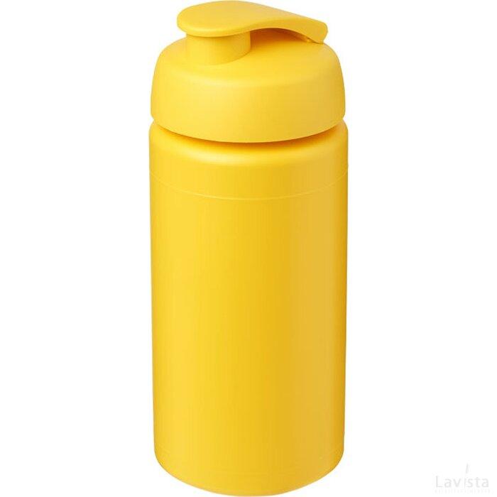 Baseline® Plus grip 500 ml sportfles met flipcapdeksel geel