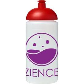 Baseline® Plus grip 500 ml bidon met koepeldeksel Transparant,Rood