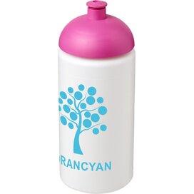 Baseline® Plus grip 500 ml bidon met koepeldeksel Wit,Roze