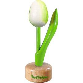 Tulip pedestal 8,5 cm ( small ), white green Amsterdam