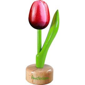 Tulip pedestal 8,5 cm ( small ), red white Amsterdam