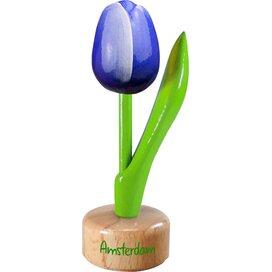 Tulip pedestal 8,5 cm ( small ), blue white Amsterdam
