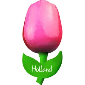 Tulip magnet 6 cm ( small ), pink red Holland