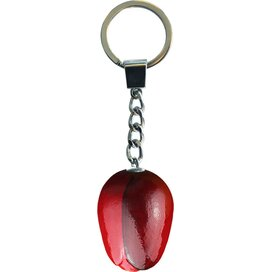 Key chain 1 tulip 3,5 cm, red aubergine