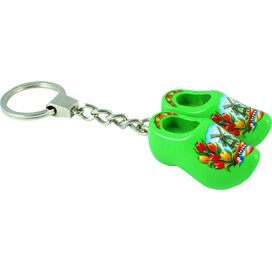 Keychain 2 shoes, lime tulip
