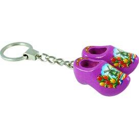 Keychain 2 shoes, purple tulip