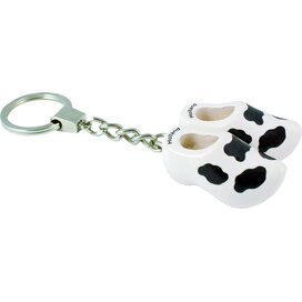 Keychain 2 shoes, white cow