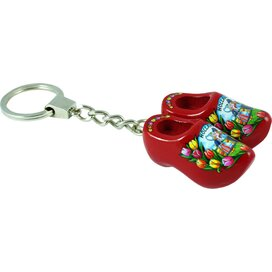 Keychain 2 shoes, red kissing couple