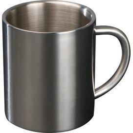 Beker van metaal grijs