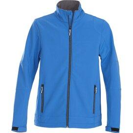 Heren printer trial softshell jacket oceaanblauw