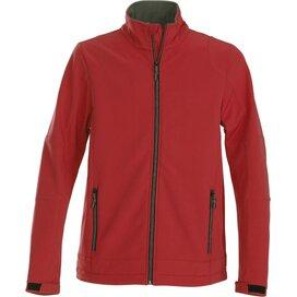 Heren printer trial softshell jacket rood