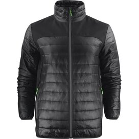 Heren printer expedition jacket zwart