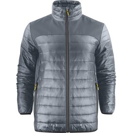 Heren printer expedition jacket staalgrijs