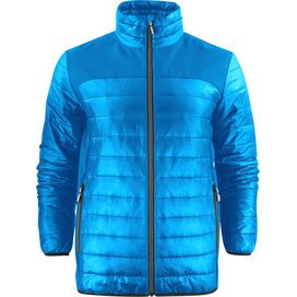 Heren printer expedition jacket oceaanblauw