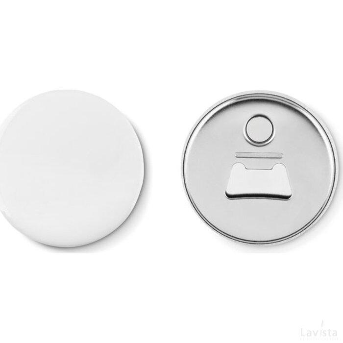 Koelkastmagneet en flesopener Pin opener mat zilver