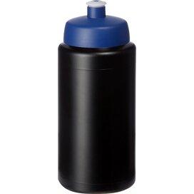 Baseline® Plus grip 500 ml sportfles met sportdeksel Zwart,blauw