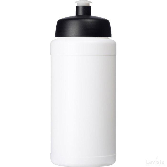 Baseline® Plus 500 ml drinkfles met sportdeksel Wit,Zwart