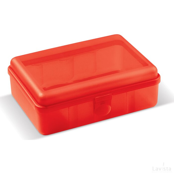Lunchbox one 950ml Transparant Rood
