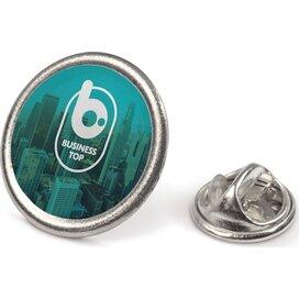 Speld metalen pin Zilvermat