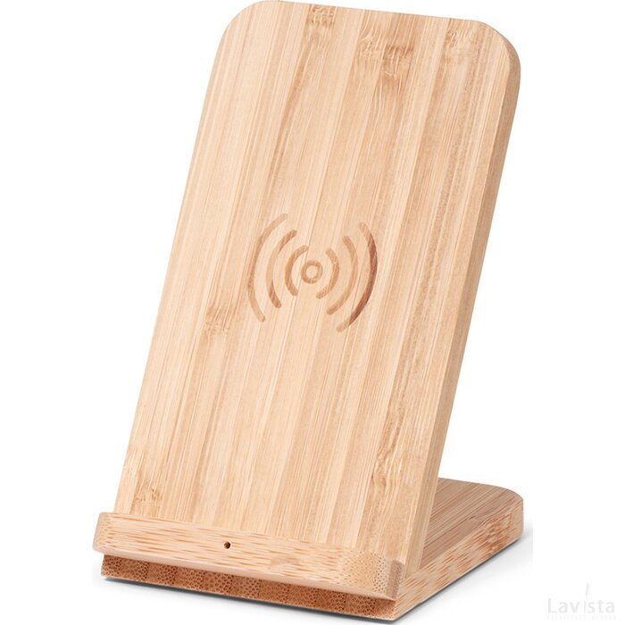 BRAINZ Wireless Charger Stand Bamboo