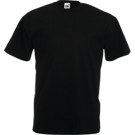 T-shirt Fruit of the Loom Valueweight T Black