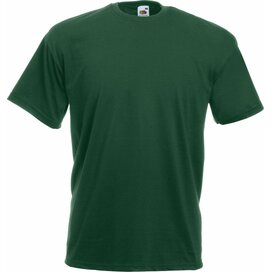 T-shirt Fruit of the Loom Valueweight T Bottle Green