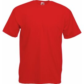 T-shirt Fruit of the Loom Valueweight T Red