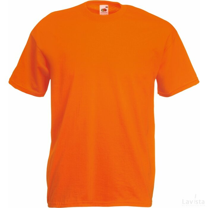 T-shirt Fruit of the Loom Valueweight T Orange