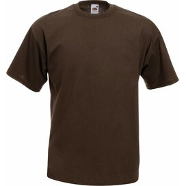 T-shirt Fruit of the Loom Valueweight T Chocolate