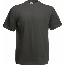 T-shirt Fruit of the Loom Valueweight T Light Graphite