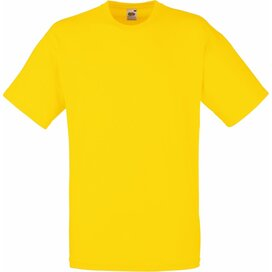T-shirt Fruit of the Loom Valueweight T Yellow