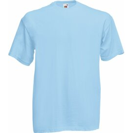 T-shirt Fruit of the Loom Valueweight T Sky Blue
