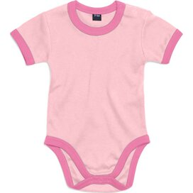 Baby Ringer Bodysuit Baby Pink/Bubble Gum Pink