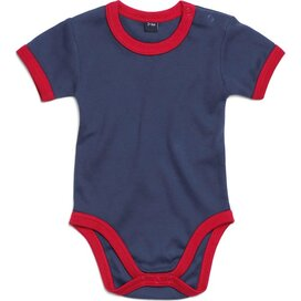 Baby Ringer Bodysuit Nautical Navy/Red