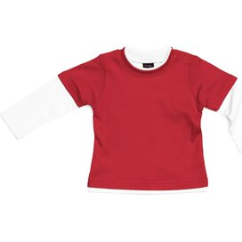 Baby Layered Skater Top Red/White